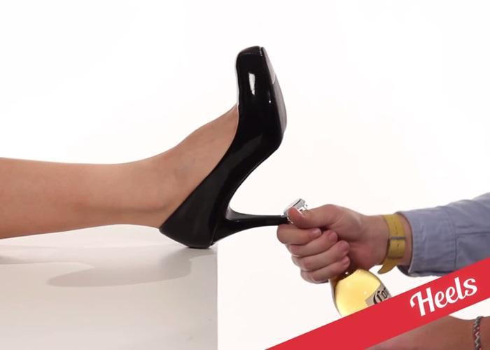 Trong cấp bách dùng tạm …giày cao gót của chị em vậy
