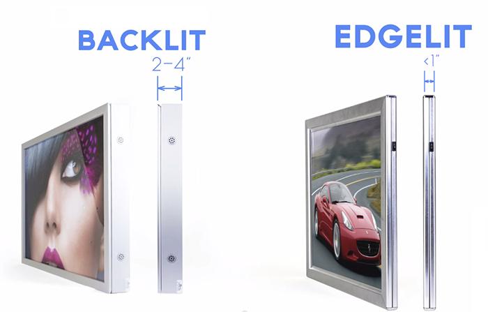Tivi LED nền dày hơn Tivi LED viền rất nhiều
