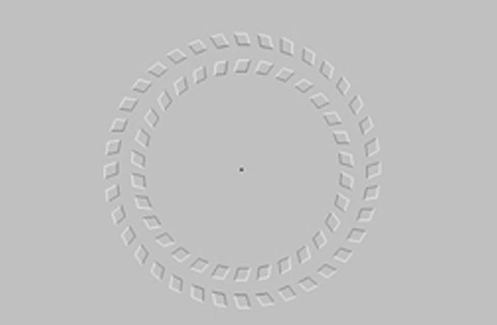 Bạn có thấy hai vòng tròn đang quay?