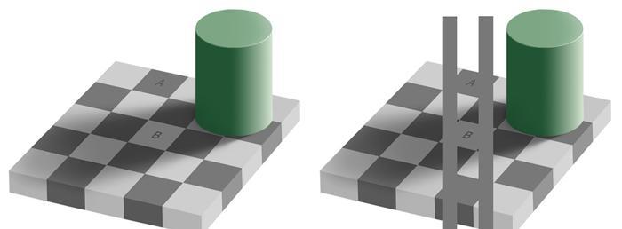Hai hình vuông A, B cùng màu
