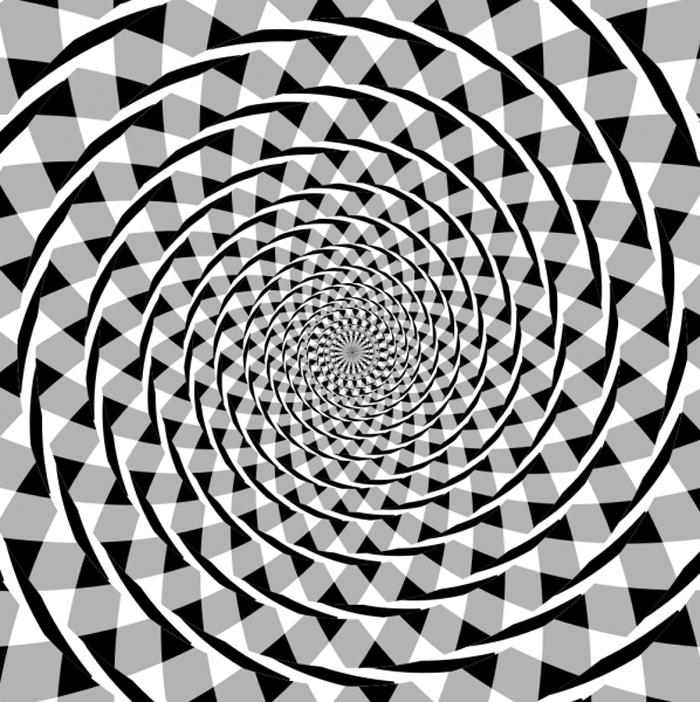 Một vòng xoắn giả tạo nên bởi nhiều hình tròn