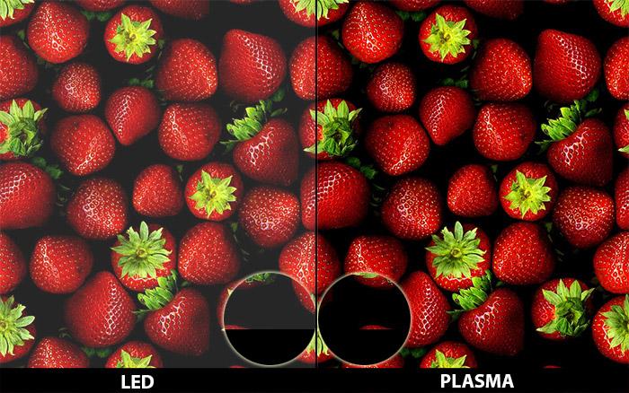 Màu đen và sắc đỏ trên tivi Plasma sâu và rực rỡ hơn hẳn tivi LED