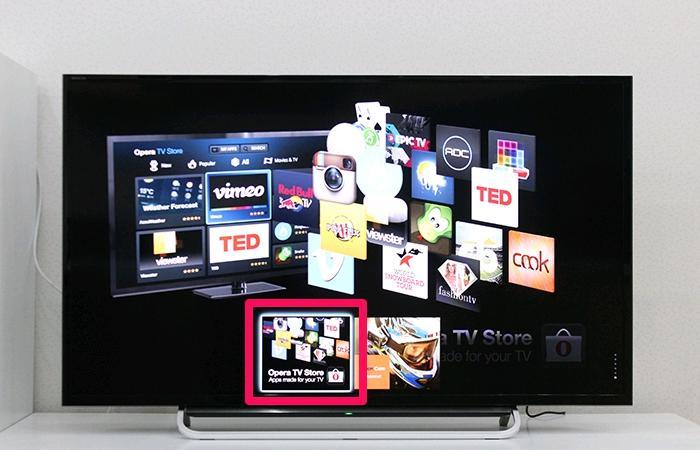Chọn vào thẻ Opera TV Store