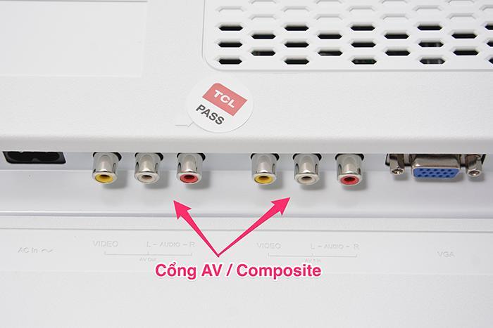 Cổng AV / Composite trên tivi TCL 28E4200BW 28 inch