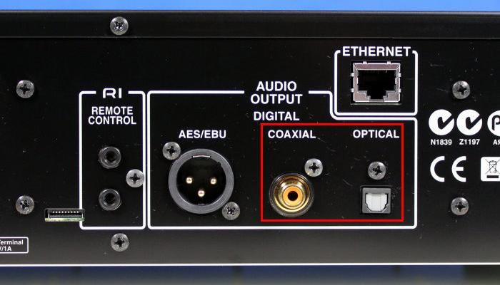 Cổng Optical/coaxial trên tivi
