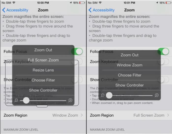Thanh trượt phía dưới menu Zoom sẽ được gạt ở mức (-) bên trái, sao cho màn hình hiển thị đầy đủ nhất (Full Screen).