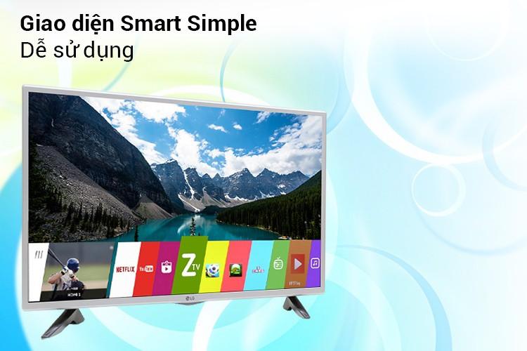 Giao diện Smart Simple trên Internet tivi LG