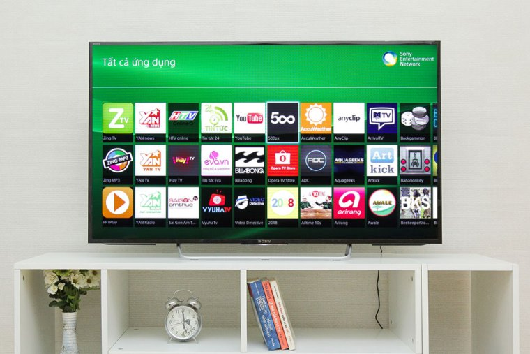 Giao diện Sony Entertainment Network của tivi Sony