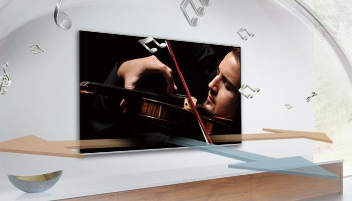 Âm thanh sống động từ chính tivi lan tỏa