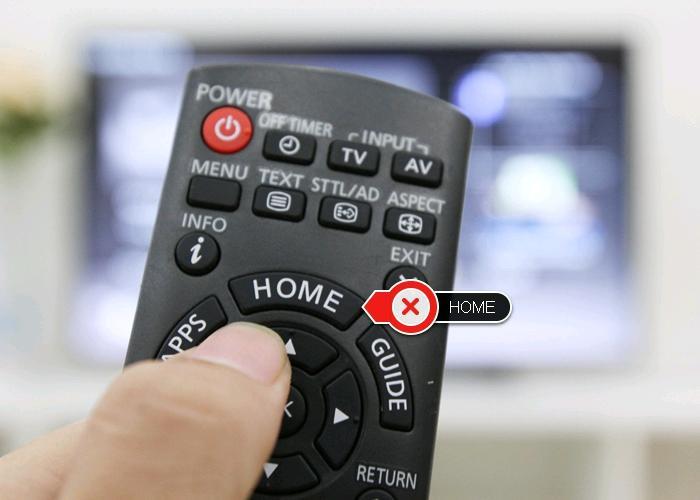 Nhấn phím Home để về màn hình My Home Screen