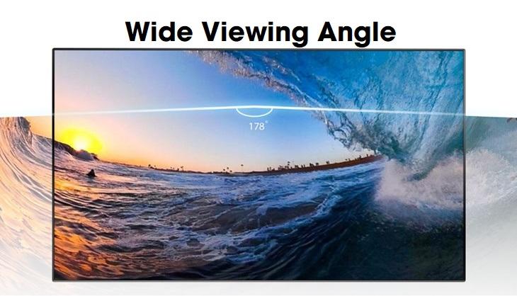Công nghệ Wide Viewing Angle mở rộng góc nhìn tối ưu