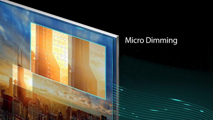 Công nghệ Micro Dimming điều chỉnh độ sáng tối cho hình ảnh hiển thị sống động hơn