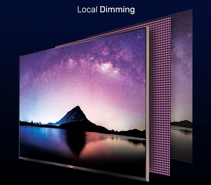 Công nghệ Local Dimming nâng cao độ tương phản cho hình ảnh, cho sắc đen hiểu thị sâu hơn
