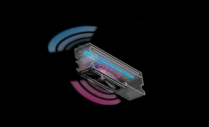Âm Bass mạnh mẽ bởi hệ thống loa Labyrinth Speaker System