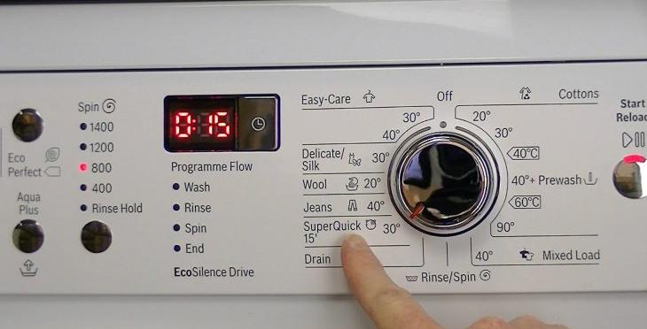 chế độ giặt nhanh