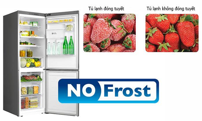 Tủ lạnh không đóng tuyết giúp bảo quản tốt thực phẩm