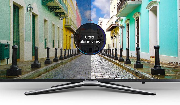 tivi Samsung với công nghệ Ultra Clean View giúp giảm nhiễu, cho hình ảnh độ sắc nét kinh ngạc