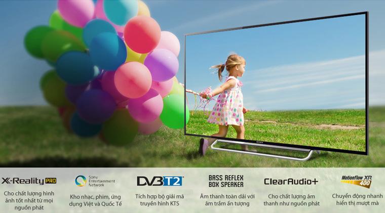 Các model W600B, W700B, W800B & Tivi 4K Sony đều có là internet tivi.