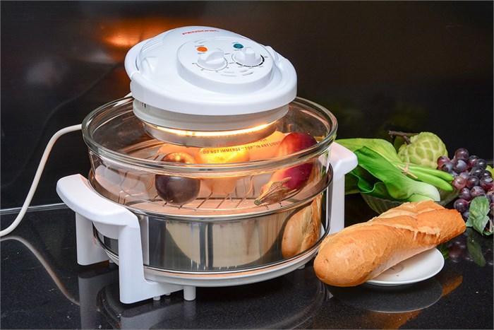 Chỉnh mức nhiệt độ phù hợp để nướng thịt với lò nướng thủy tinh Sanaky 158T