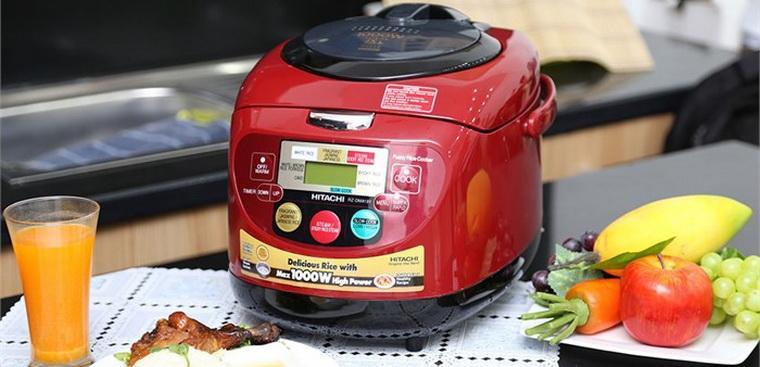 nấu cơm bằng nồi cơm điện tử