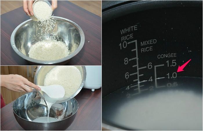 Cách nấu cháo bằng nồi cơm điện tử
