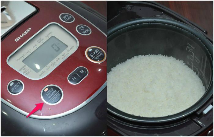 Cách nấu cơm bằng chế độ hẹn giờ ở nồi cơm điện tử