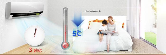 Jet Cool cho phép giảm nhanh 5 độ trong 3 phút