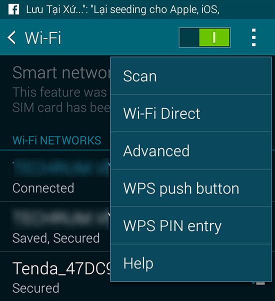 Chọn Wifi Direct