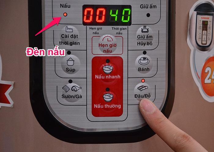 Cách sử dụng chức năng nấu của nồi áp suất điện tử