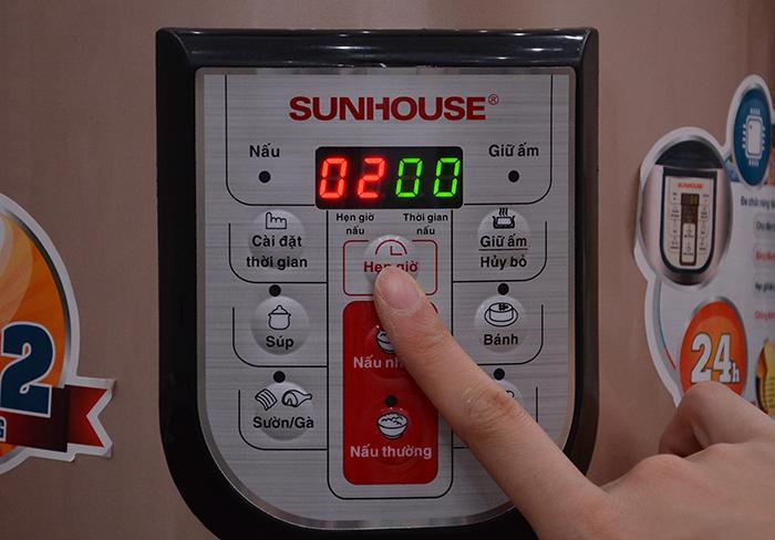 Cách sử dụng chức năng hẹn giờ nấu của nồi áp suất điện tử