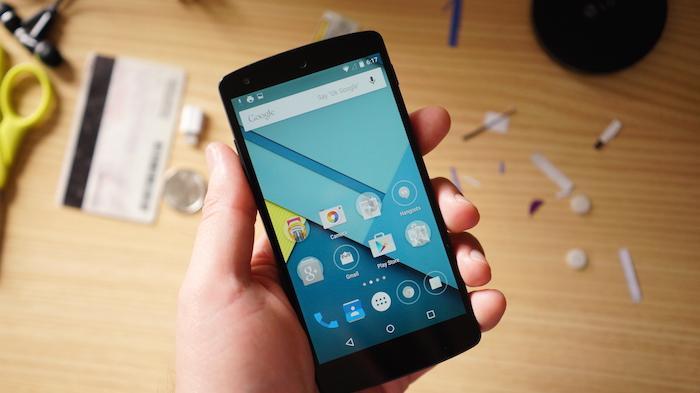 Giao diện Android 5.0 trên điện thoại