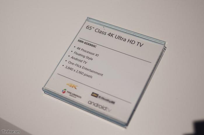 Bảng thông số của chiếc tivi X900 65 inch