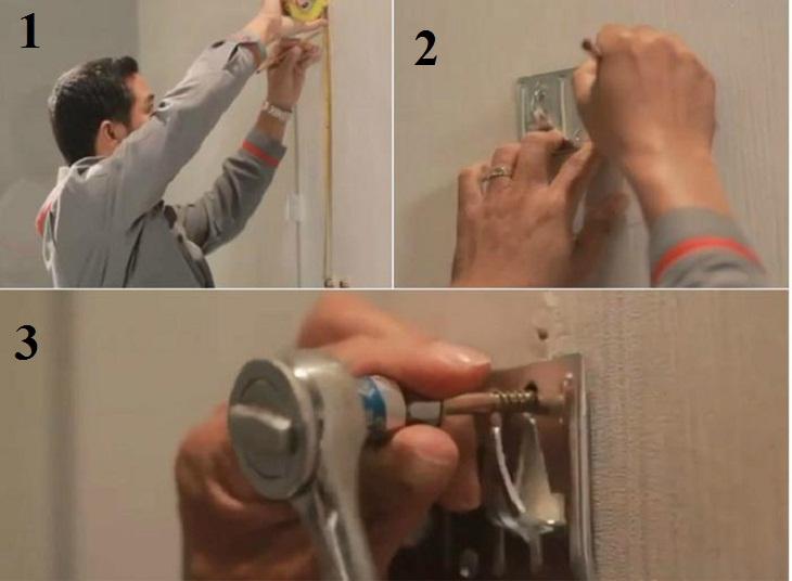 đánh dấu vị trí lắp đặt máy nước nóng