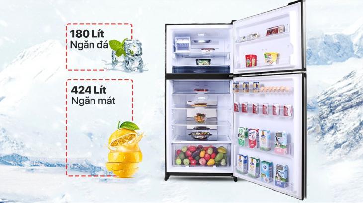 Tủ lạnh Sharp Inverter 604 lít SJ-XP660PG-SL