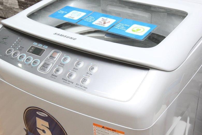 Bảng điều khiển trên Máy giặt Samsung WA80H4000SG/SV 8kg