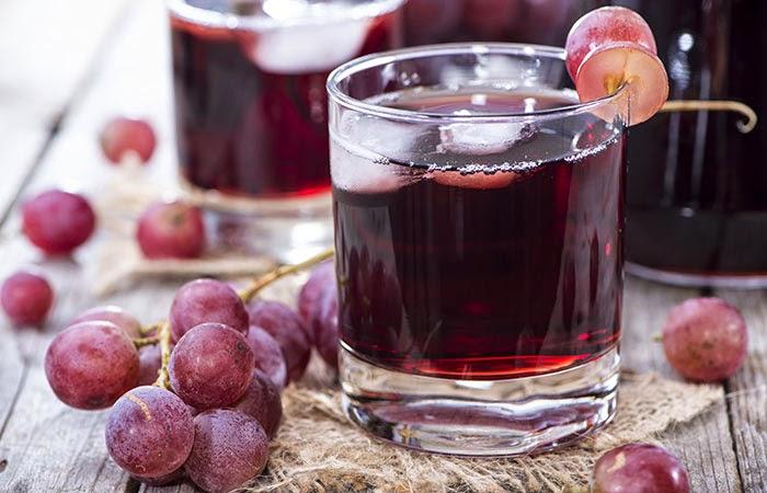 giải rượu bằng nước ép trái cây