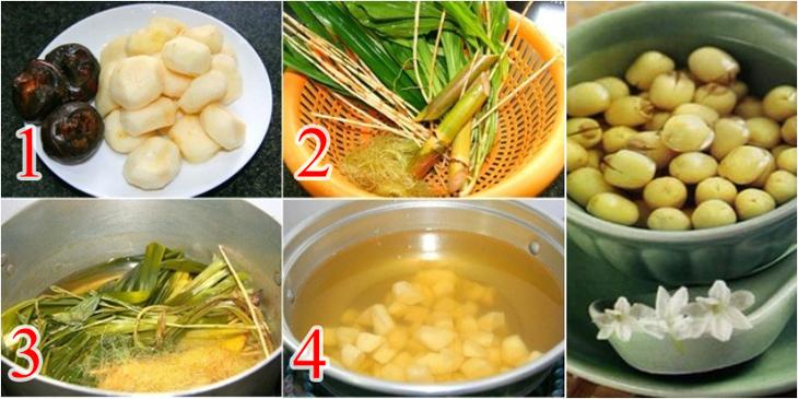 Mía lau nấu củ năng - hạt sen