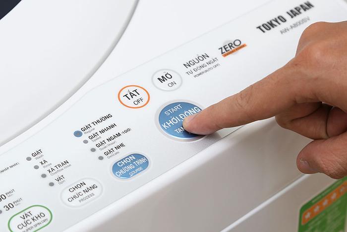 Ví dụ về một máy giặt có 4 chương trình giặt