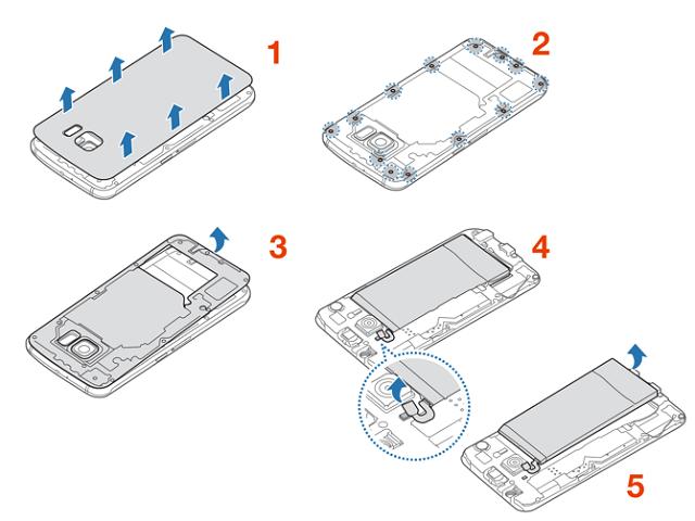Sơ bộ cách tháo pin Galaxy S6