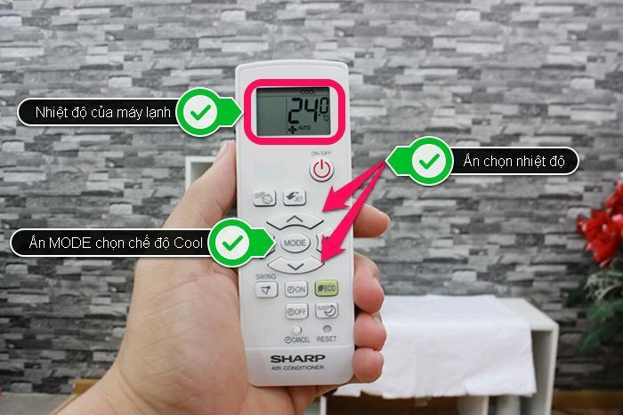 Lựa chọn nhiệt độ thích hợp