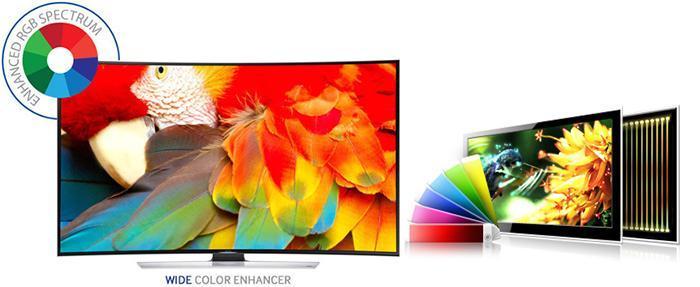 Wide Color Enhancer cho phép truyền tải nhiều màu sắc ấn tượng