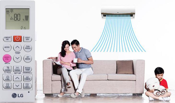Cách chỉnh chế độ kiểm soát năng lượng chủ động trên máy lạnh LG