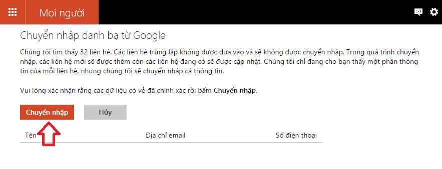 đồng bộ Google và Microsoft