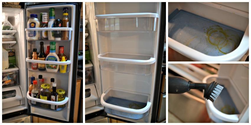 Lấy hết thực phẩm ra khỏi tủ lạnh