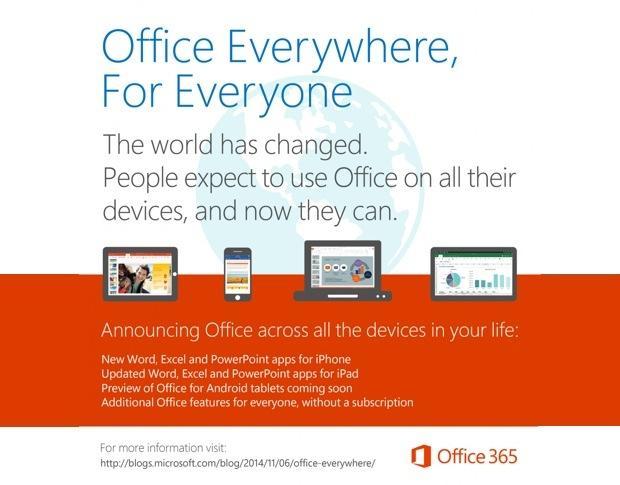 Office miễn phí trên Android và iOS