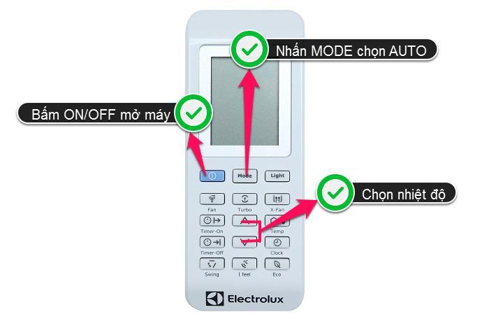 Hướng dẫn chi tiết cách sử dụng remote máy lạnh Electrolux