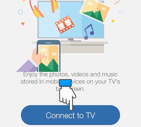 Chọn Connect tivi
