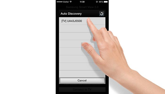 Điều khiển tivi Samsung bằng Iphone, iPad