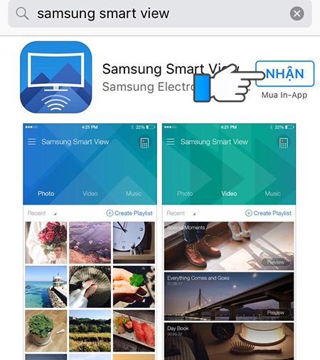 Tải ứng dụng Samsung Smart View