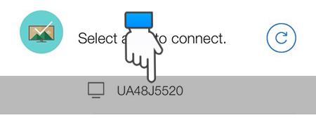 Chọn tivi muốn kết nối